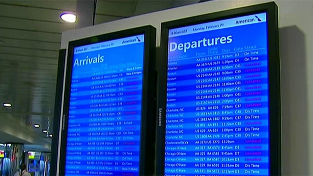Winter storm prompts flight delays, cancellations nationwide