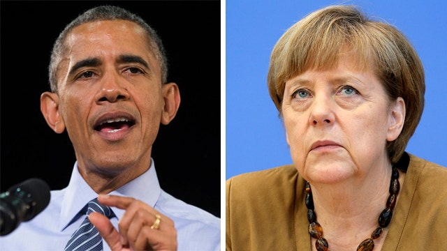 Obama, Merkel aim to keep united front over Ukraine crisis