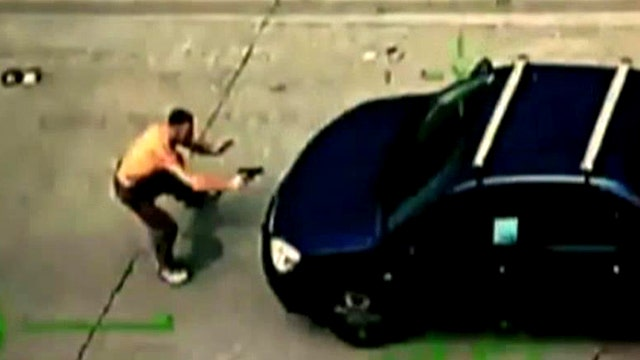 Armed suspect fires at passing vehicles, mowed down by car