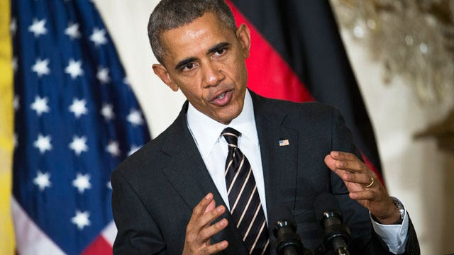 President blames media for exaggerating ISIS threat