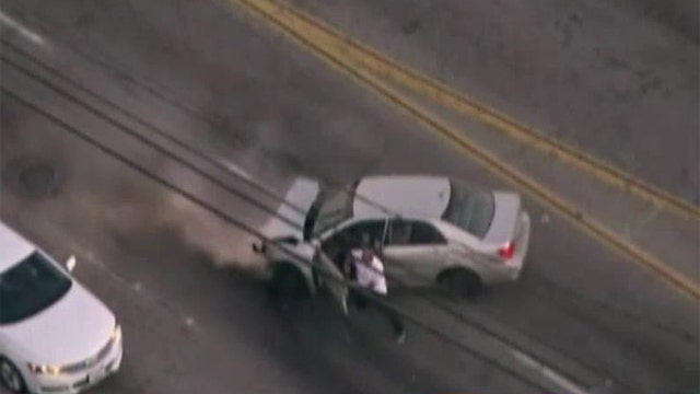 Police shoot suspect during dramatic chase and carjacking
