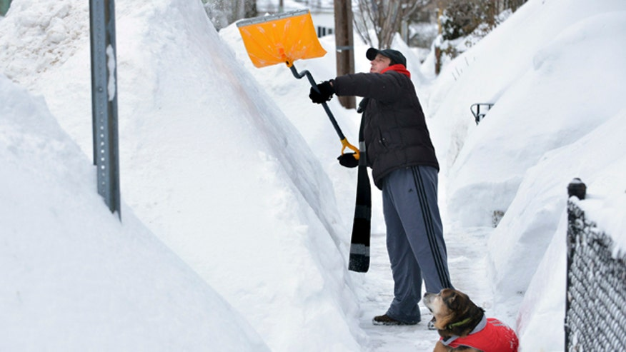 Boston area hit by 5 feet of snow in less than two weeks