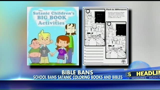 battle over satanic coloring books prompts school board to ban bibles fox news insider - Satanic Coloring Book