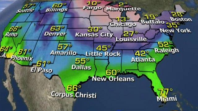National forecast for Wednesday, February 11