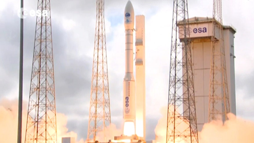 ESA craft rockets into orbit atop a Vega rocket