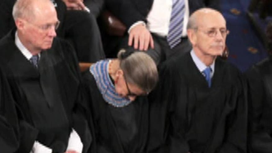'Off the Record,' 2/13/15: Supreme Court Justice Ruth Bader Ginsburg admits she nodded off at the State of the Union because she wasn't '100 percent sober.' Finally, some honesty from a public official