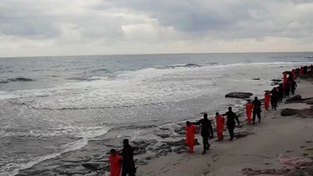 Video purports to show ISIS militants beheading Christian hostages