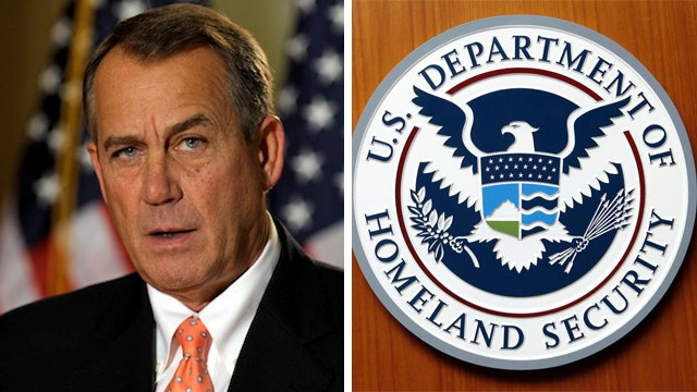 Speaker Boehner warns of a possible DHS shutdown