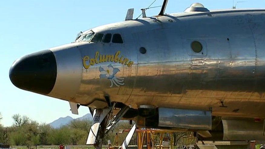 The Air Force One plane used during President Eisenhower's term now sits in the Arizona desert