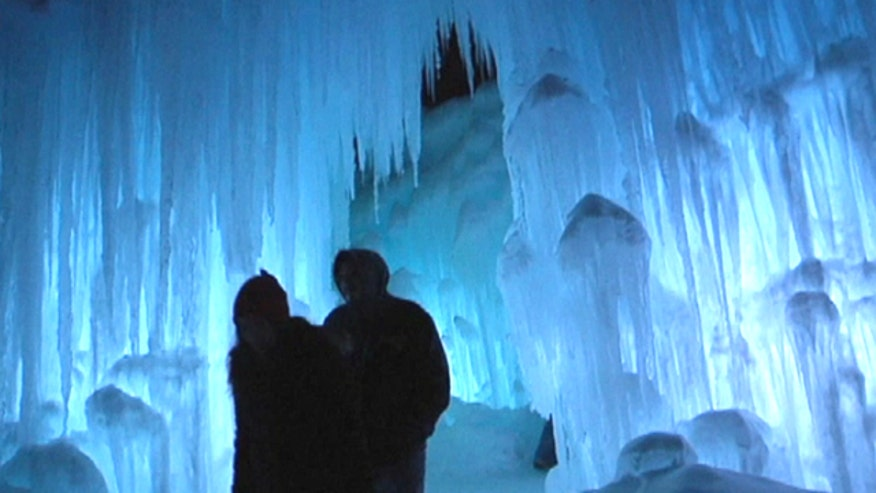 Hillary Vaughn takes you inside the Ice Castles exhibit open to the public