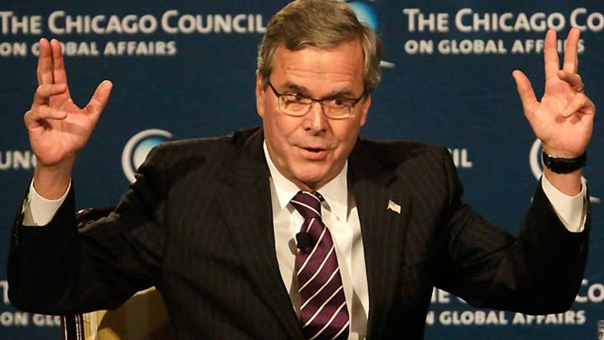 Potential contender addresses foreign policy stance