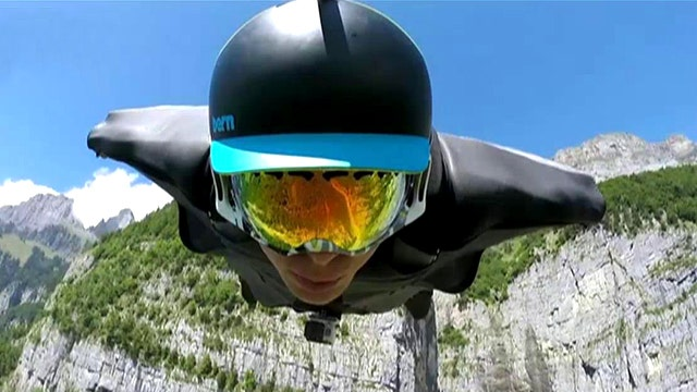 GoPro cameras capture daredevil's stunning flight over Swiss Alps