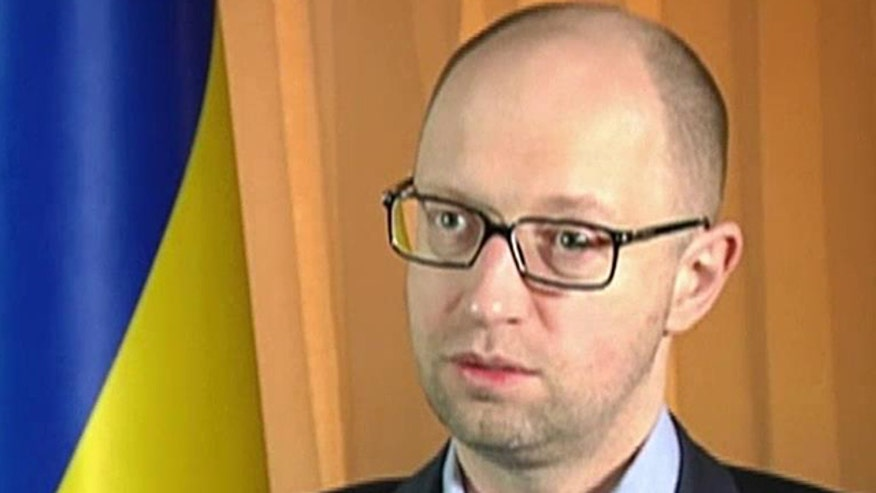 Greg Palkot sits down with Ukrainian Prime Minister Yatsenyuk to discuss tensions between Ukraine and Russia