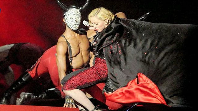 Madonna falls during live performance