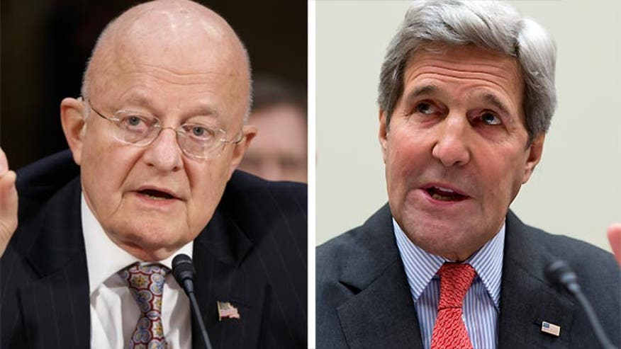 Intel chief James Clapper says 2014 was the deadliest year for terror the day after Secretary of State Kerry said we're living in an era of less daily threats