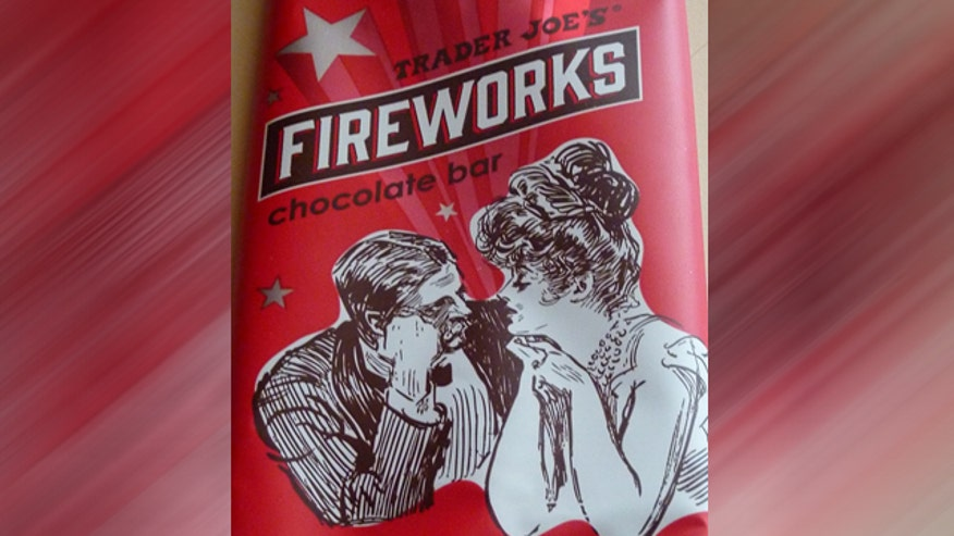 Trader Joe's mixes chocolate, chipotle chiles, cayenne pepper and pop rocks to create fireworks in your mouth.