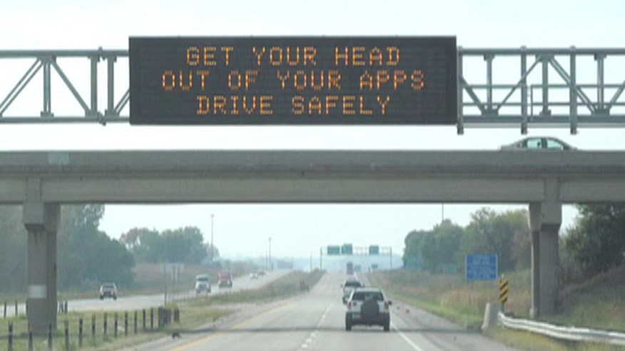 Lauren Blanchard takes a look at unusual signs on Iowa highways meant to reduce the number of driving deaths