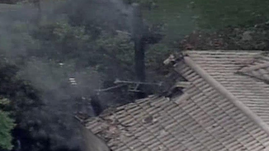 Helicopter crash causes major damage at home in Orlando, FL