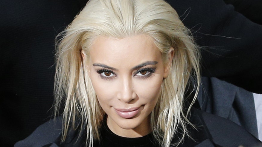Kim's platinum blonde locks are no more