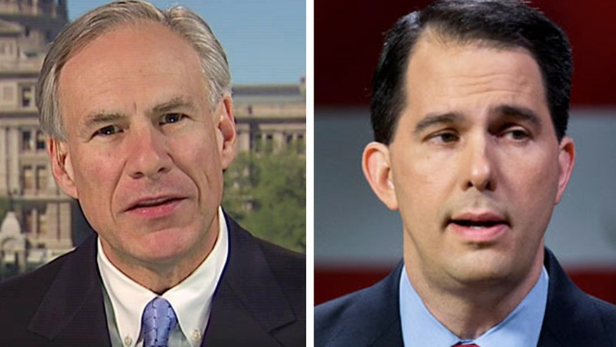 Wisconsin governor Scott Walker tours Texas-Mexico border with Gov. Greg Abbott