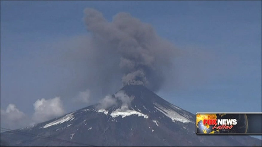 Local media showed images of the Villarrica volcano spewing heavy smoke into the air during the weekend.