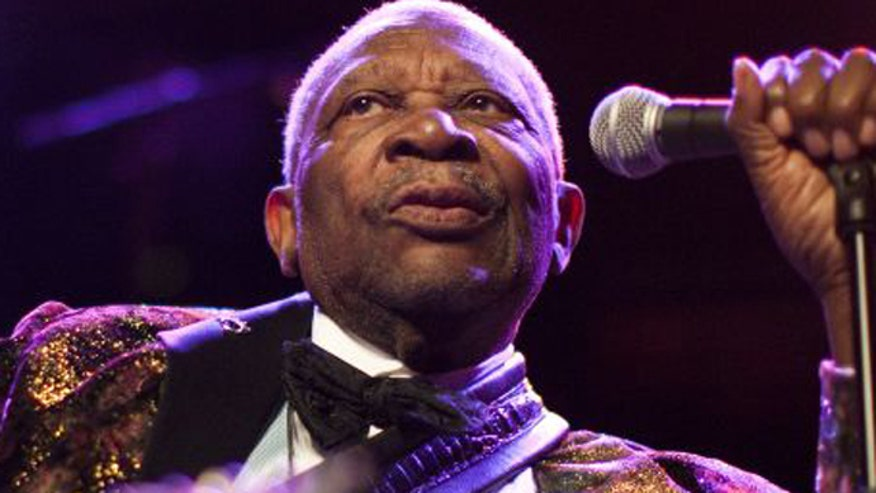 Blues legend B.B. King in the hospital