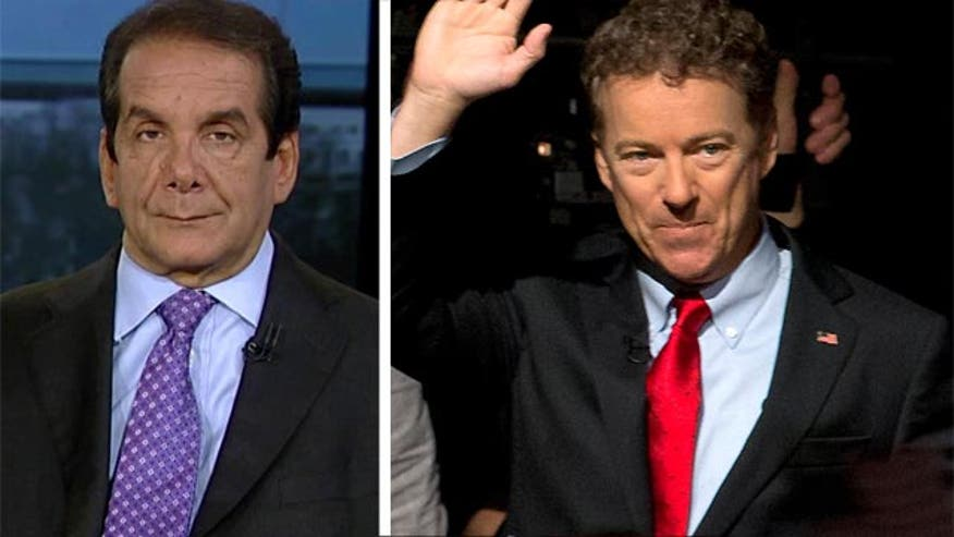 "Syndicated columnist Charles Krauthammer said Tuesday on ""Special Report with Bret Baier"" that Sen. Rand Paul, R-Ky., who today announced his candidacy for president, has huge obstacles to overcome in the foreign policy realm."