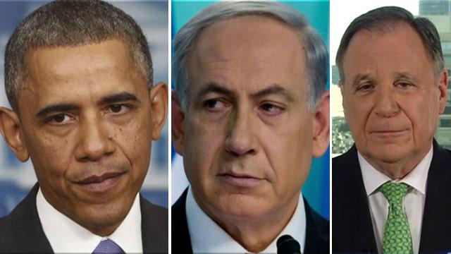 White House swipes at Netanyahu with tweet of Iran bomb diagram