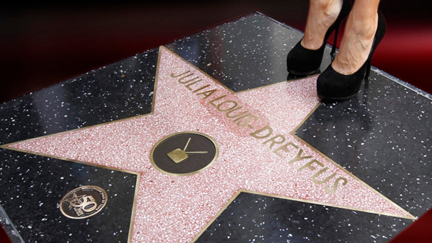 Julia Louis-Dreyfus' name was misspelled on her star