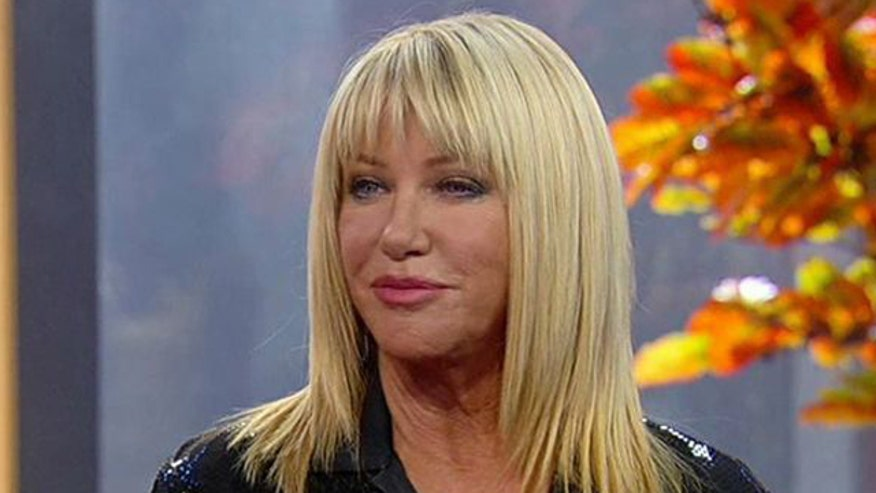 Suzanne Somers gets tangled on 'Dancing with the Stars'