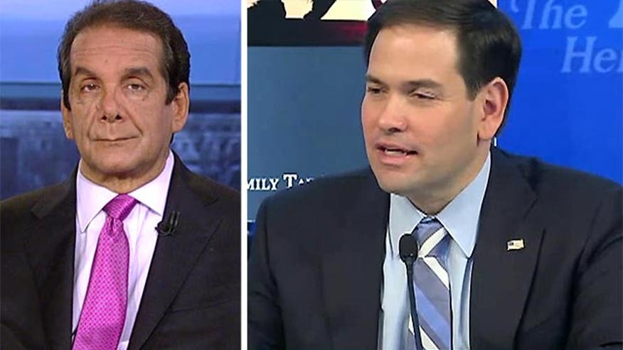 "Krauthammer: Marco Rubio using elements of tax plan as ""sweetener"" for votes"