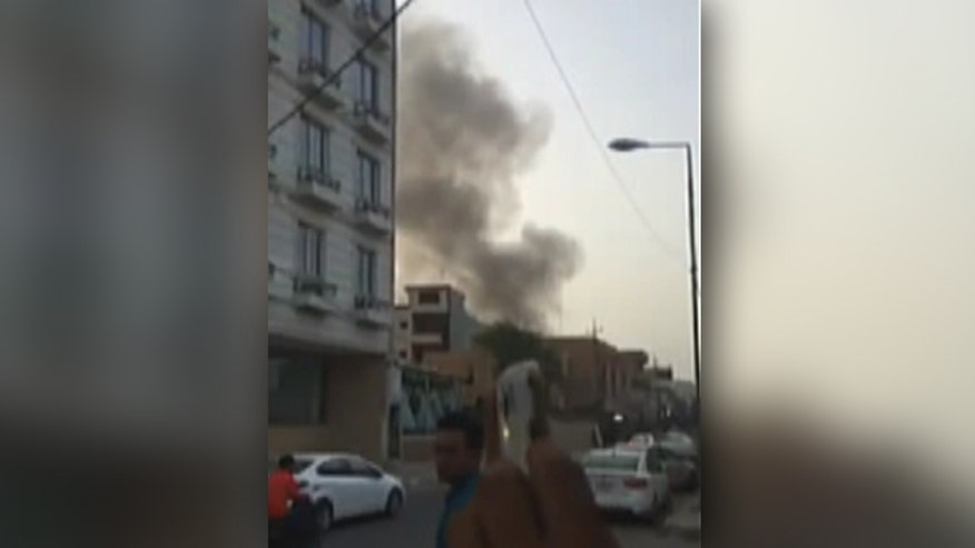 Raw video: Amateur footage of attack in Iraq