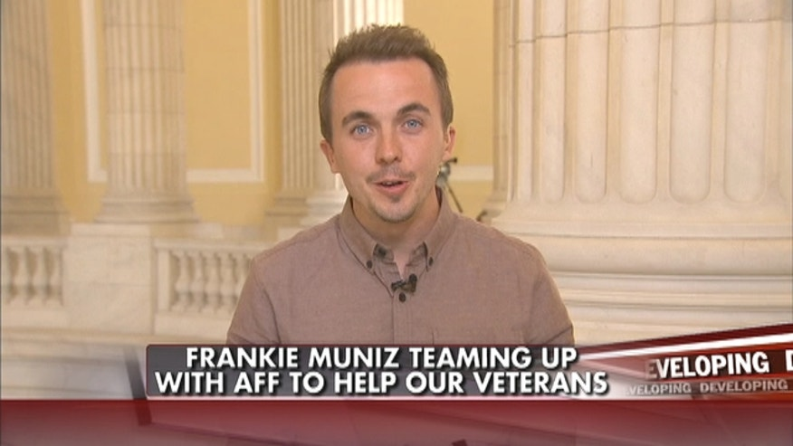 Actor Frankie Muniz teamed up with the AFF to help raise awareness of PTSD to help U.S. veterans.