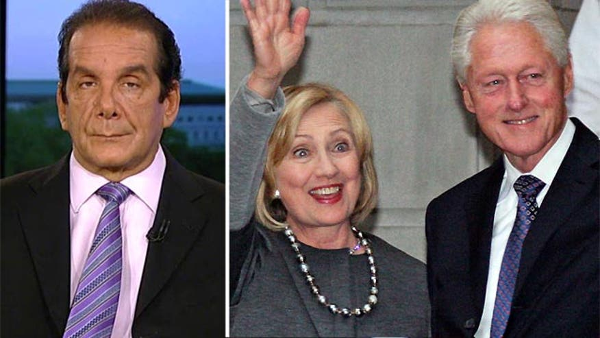 """Krauthammer on """"unbelievable arrogance of the Clintons."""""""