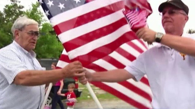 Hazing our heroes: Frat taunts veterans, urinates on flags
