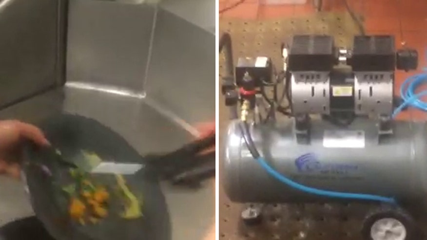 Raw video: Eatery installs air compressor to clean dishes in effort to comply with drought restrictions on water use