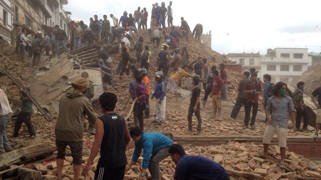 Massive earthquake strikes Nepal