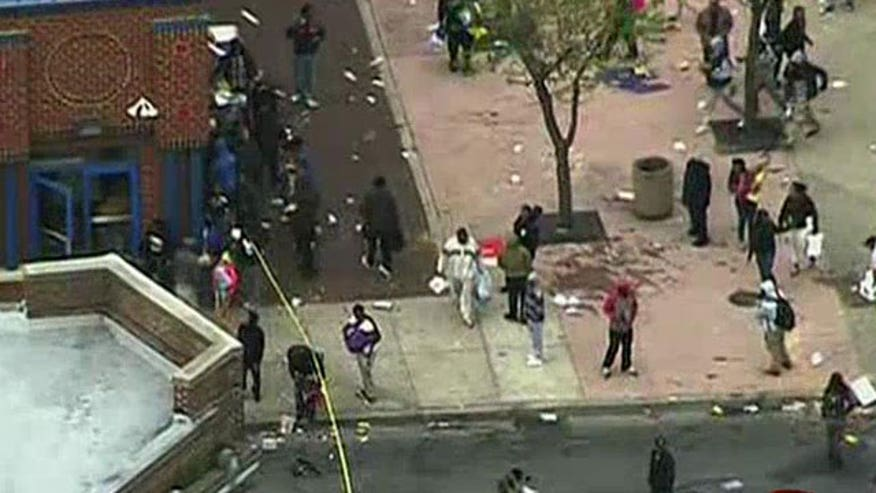 Violent protests, looting in Baltimore following funeral of Freddie Gray