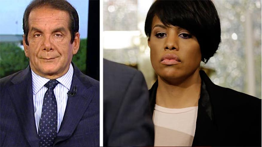 "Krauthammer: Baltimore Mayor elected ""not to express sadness but to do something"""