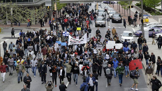 Has social media exacerbated the problems in Baltimore?