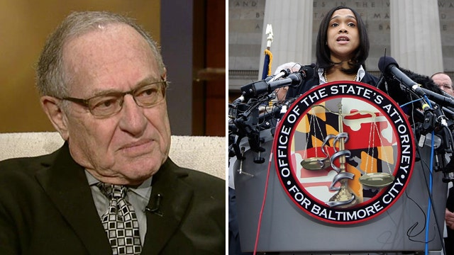 Justice or crowd control? Dershowitz on Baltimore charges