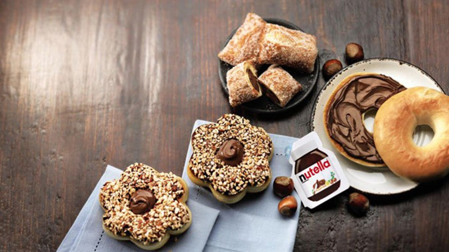Fast food chain Tim Hortons offers new Nutella creations.