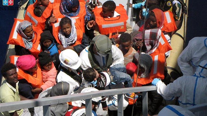 In three-day period ending Sunday, 6,771 survivors were rescued at sea