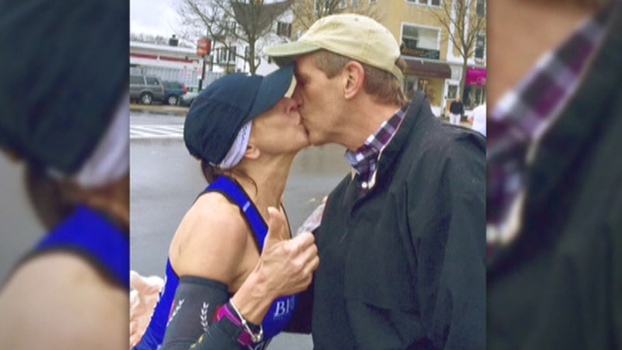 Runner hears back from man's wife