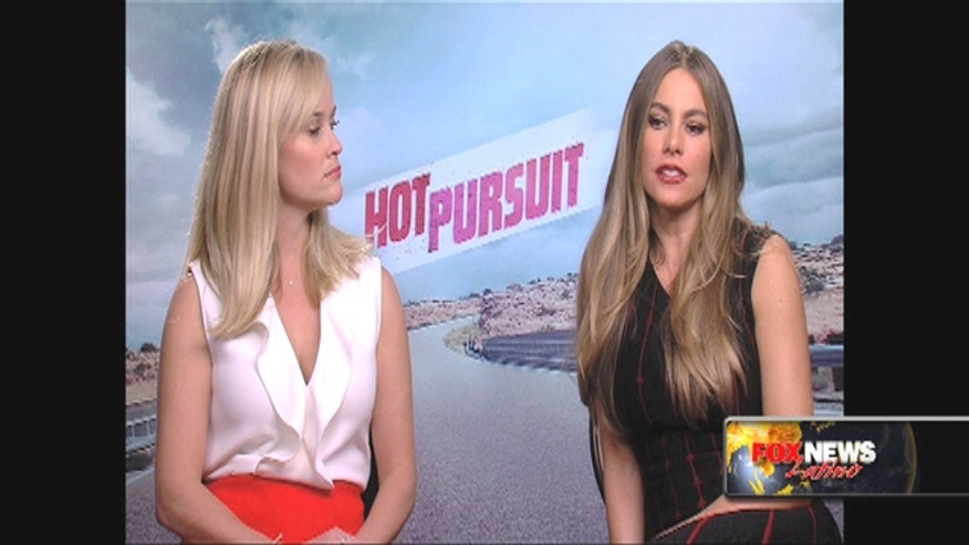 Sofia Vergara and Reese Witherspoon talk about strong women in films, 'Hot Pursuit.'