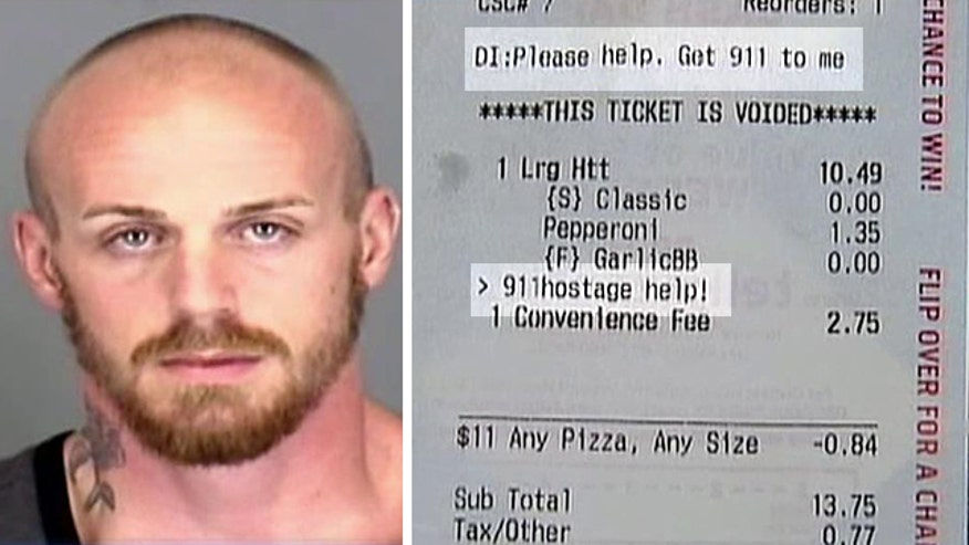 Pizza Hut employees call 911 after noticing special note on receipt