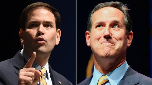 GOP contenders talk tough on foreign policy at summit