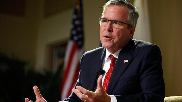 Jeb Bush pushes back at conservative critics