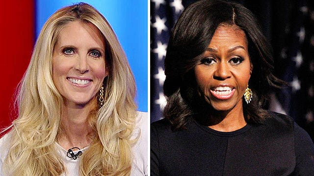 Coulter talks First Lady taking on race in graduation speech