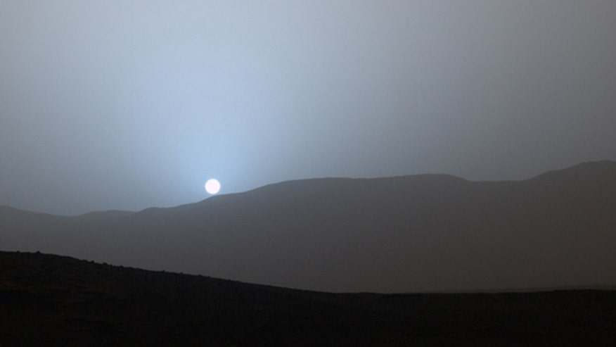 NASA's Curiosity rover has captured a rare photograph of a Mars sunset